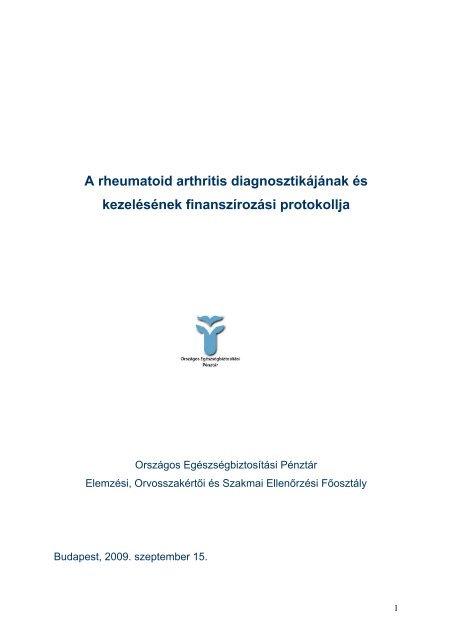 rheumatoid arthritis, mint a kezelt térdfúziós kezelés