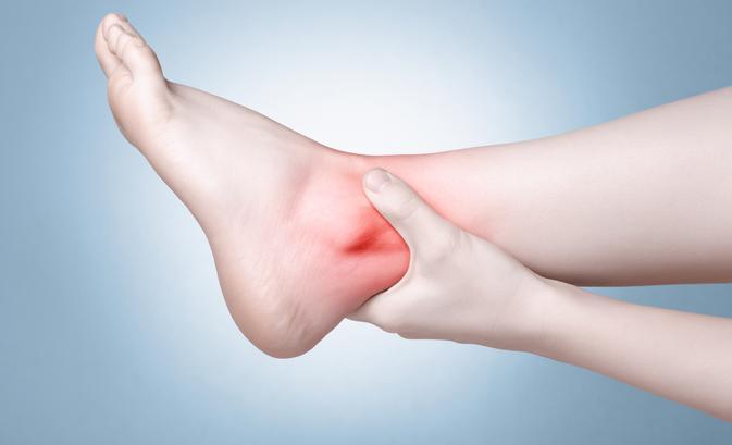 a láb és a sarok ízülete