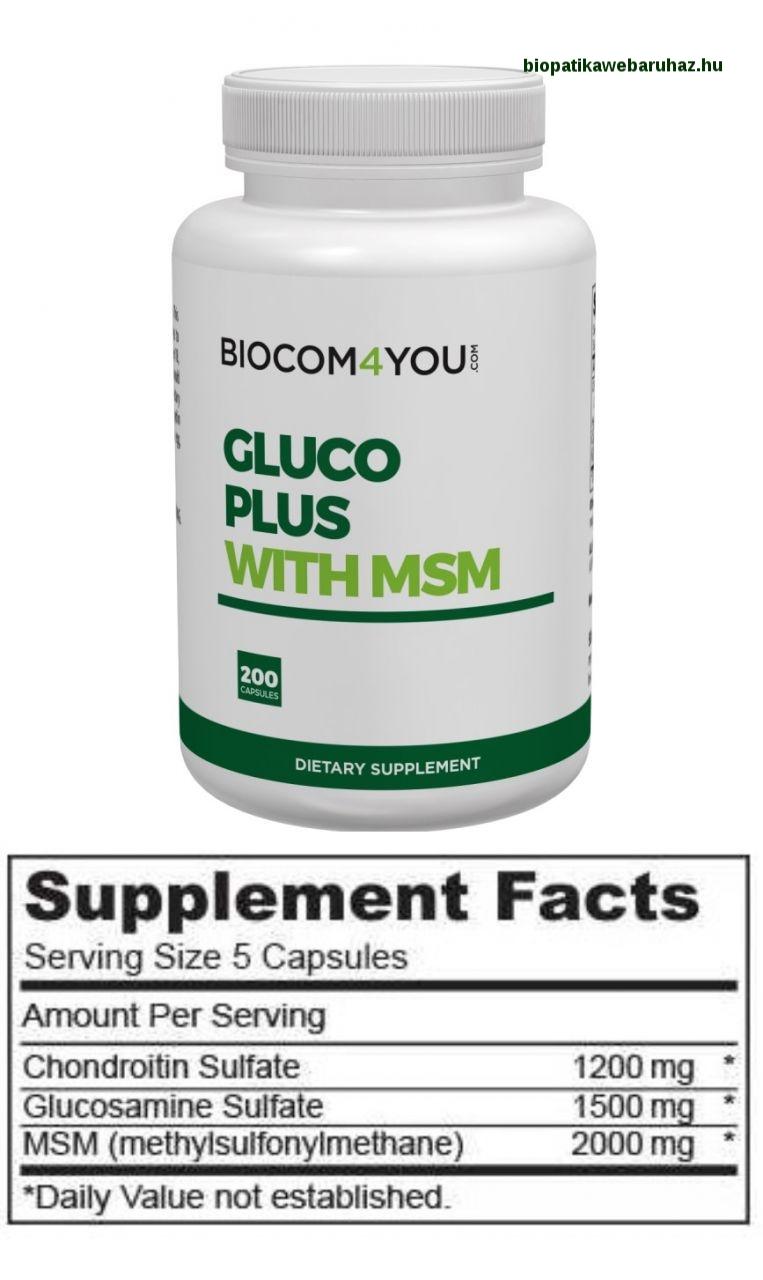 természetes kondroitin és glükózamin