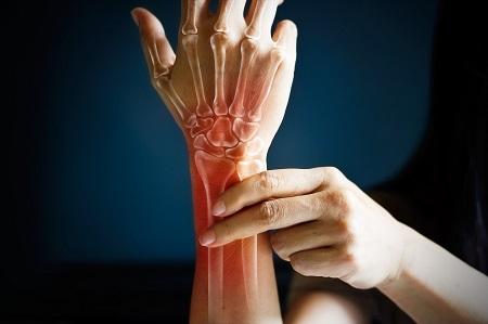 ízületek a sérült ujjak kezében