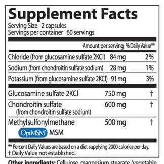 kondroitin-glükozamin ödéma)