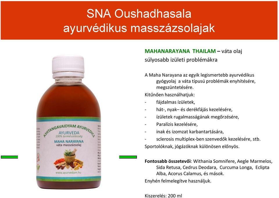 ayurvédikus készítmények ízületek kezelésére