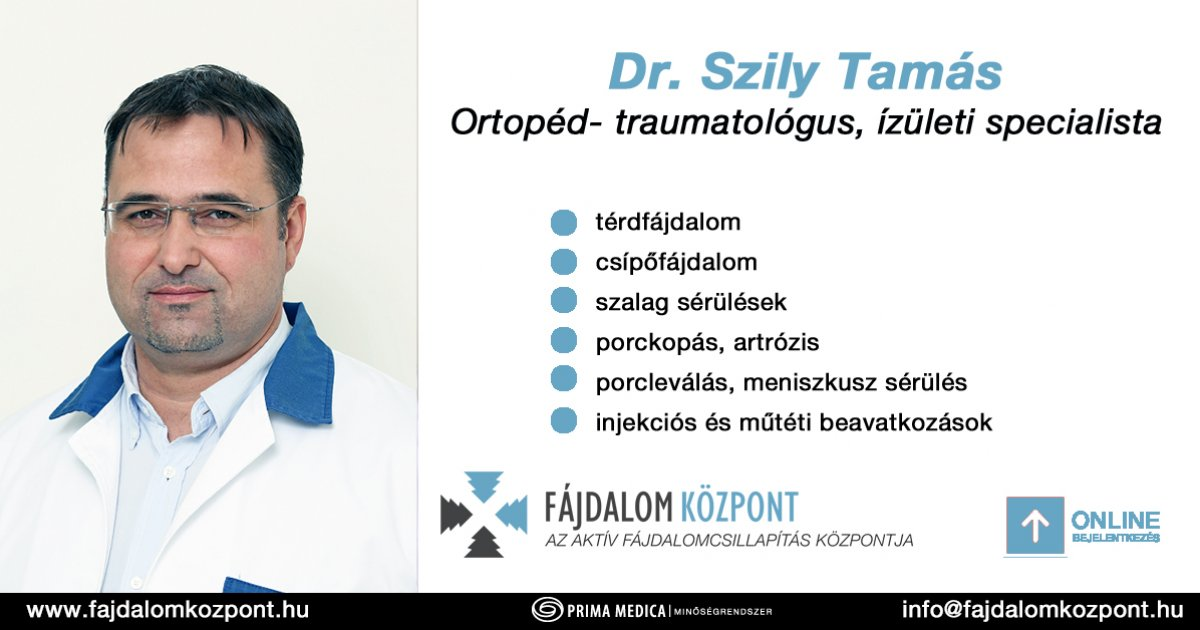 Ortopédia, Ortopédiai szakrendelés, Ortopédus - Medicover