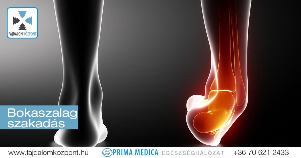 részleges szakadás a boka ligamentumok kezelési ideje)