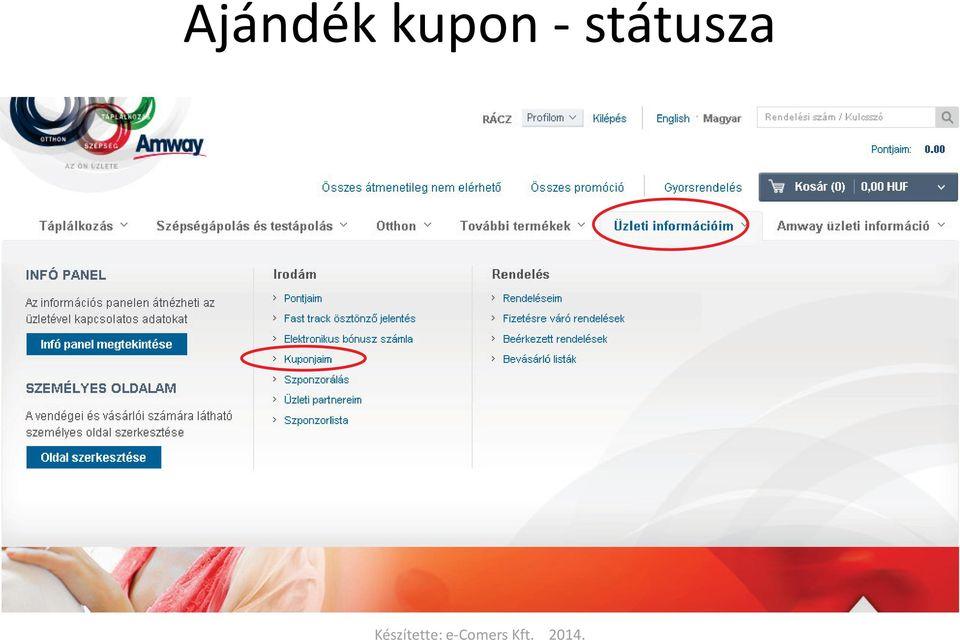 közös kezelési kupon)
